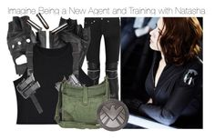 """Imagine Being a New Agent and Training with Natasha"" by fandomimagineshere ❤ liked on Polyvore featuring Yves Saint Laurent, Charlotte Russe and Frye"