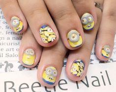 Nail Art - Beetle Nail : 八幡|ミニオンネイル  #ネイル #ビートル近江八幡 #ビートルネイル #ネイル近江八幡 #ミニオン