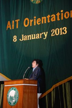 Orientation Day at the Asian Institute of Technology (AIT) on 8 January 2013.