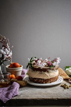 apricot honey and pistachio cake with jasmin honey syrup