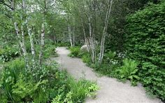 The Telegraph Garden is an evocation of the British countryside, its flowers, woods, streams and rocky hillsides