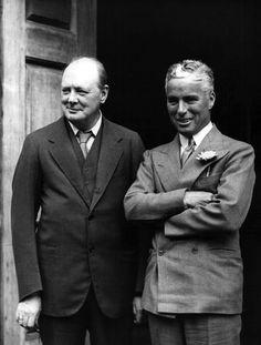 Winston Churchill with Charlie Chaplin