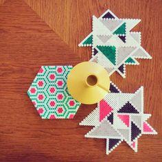 Geometric Perler Bead Designs
