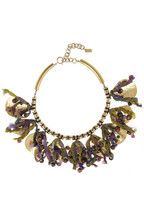 Etro|+ V&A hammered gold-plated, tourmaline and silk necklace|NET-A-PORTER.COM