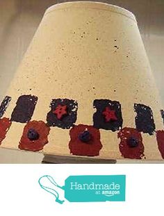 Americana Natural Linen Lampshade from Primitive Country Loft House https://www.amazon.com/dp/B01E1LLLWE/ref=hnd_sw_r_pi_awdo_LG7lybRNXFA76 #handmadeatamazon