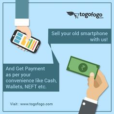 Sell your old smartphone with us! And Get Payment as per your convenience like Cash, Wallets, NEFT etc. Visit Here: https://bit.ly/2HLkd6p  Call Us: 9650002107 #Togofogo #SellOldPhone #BuyBackOffer