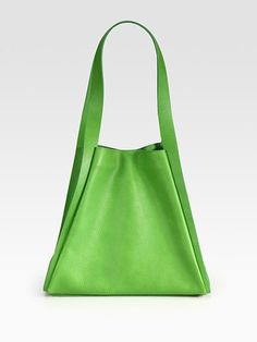 Akris Alex Cervo Tote in Lime Green