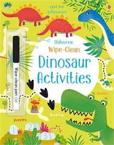 """Wipe-clean dinosaur activities"" at Usborne Children's Books Pirate Activities, Dinosaur Activities, Farm Activities, Space Activities, Christmas Activities, Reading Games, Reading Strategies, Maze Drawing, Prewriting Skills"