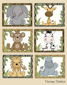 Details about Safari Animal Prints Nursery Wall Art Baby Boy Jungle Kids Bathroom Room Decor - - Jungle Nursery Boy, Animal Nursery, Jungle Room, Monkey Nursery, Baby Wall Art, Nursery Wall Art, Nursery Prints, Nursery Decor, Wall Décor