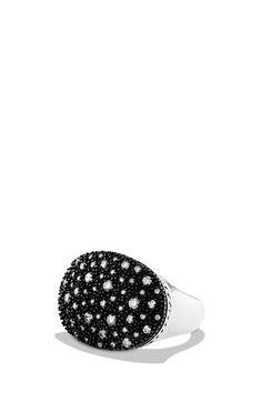 David Yurman 'Midnight Mélange' Small Oval Ring available at #Nordstrom