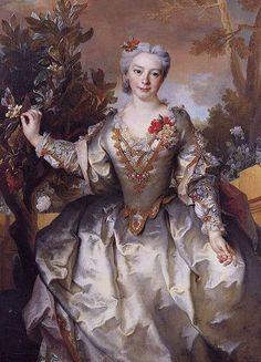 Nicolas de Largillière (1656–1746) ;    Portrait of Louise-Madeleine Bertin, comtesse de Montchal; 18th century; oil.
