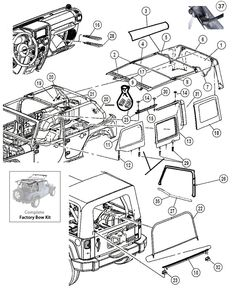 Jeep JK Parts Diagrams