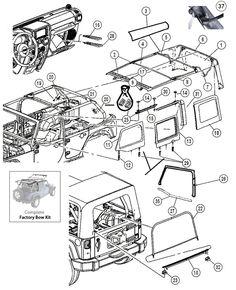 2007 jeep wrangler parts diagram bargman 7 pin wiring diagrams rangler database 15 best jk images morris lifted interactive