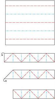 kaizen journey: Itajime folding directions for shibori
