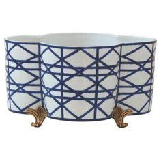 "Check out this item at One Kings Lane! 14"" Gazebo Planter, Blue"