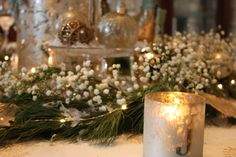 Christmas tablescape via Inspiration in Stages (2013)