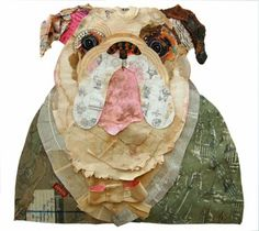 Peter Clark; Brown-eyed and Handsome Mixed vintage paper collage, 2011