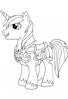 ภาพวาดระบายส Shining Armor Horse Coloring Pages My Little Pony Coloring Pony Drawing
