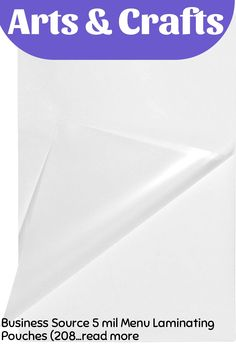 Business Source 5 mil Menu Laminating Pouches (20868) (This is an affiliate pin) Menu, Pouches, Craft Supplies, Business, Menu Board Design, Store, Business Illustration, Stationery