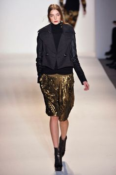 Rachel Zoe FALL 2013 | I don't know if I could ever pull this look off, but sequin culottes sure make a statement!
