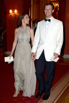 """Princess Marie and Prince Joachim of Denmark arrive at Grand Hotel, Stockholm for the pre-wedding dinner June 7th; wedding of Princess Madeleine of Sweden and mr. Christopher """"Chris"""" O'Neill, June 8th 2013"""