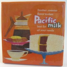 Pacific Milk Tile Coaster by robotcandy on Etsy, $6.00