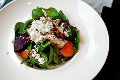 Beet salad at Spacco Restaurant in Toronto.