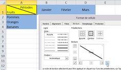 Comment faire une ligne diagonale sur excel