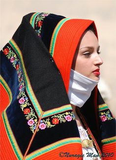 Sardinian traditional dress.