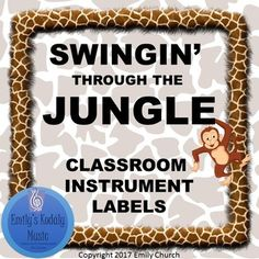 Label your Orff Instruments and Classroom Percussion with these AWESOME Jungle Themed Labels. Over 25 Instruments Included! **These Labels are also part of a great Jungle Themed Decor Bundle- Check it out!** Jungle Decor