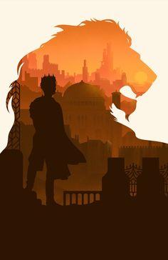 Game of Thrones Joffrey Lannister Lion Art Print Silhouette Poster 11 x 17 - Airbrush Art - Game Of Thrones Joffrey, Arte Game Of Thrones, Game Of Thrones Cover, Game Of Thrones Artwork, Game Of Throne Poster, Game Of Thrones Instagram, Game Of Trones, King's Landing, Lion Art