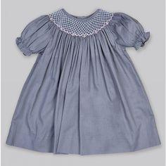 Toddler Short Sleeve Diamond Smocked Dress