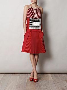 Bottega Veneta embroidered bodice dress, only $5,632