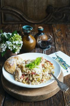 Chicken Leek, and Pancetta Risotto