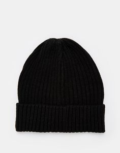 Selected Ribbed Beanie