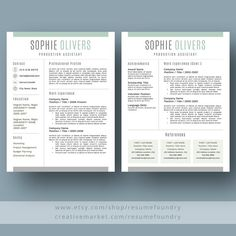 Resume Design : Resume Template / CV Template Cover Letter for by ResumeFoundry - Resumes. Modern Resume Template, Cv Template, Resume Templates, Great Resumes, Resume Examples, Work On Writing, Writing Tips, Resume Writing, Cover Letter For Resume
