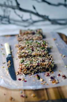Quinoa, Fruit & Nut Bars