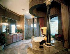 Fancy shmancy bathroom.