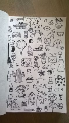 30 Super Cute How To Doodles For Your Bullet Journal Tumblr Drawings, Art Drawings Sketches, Easy Drawings, Mini Drawings, Cool Little Drawings, Simple Doodles Drawings, Small Drawings, Bullet Journal Art, Bullet Journal Ideas Pages
