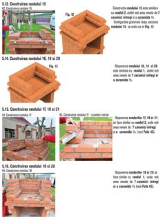 Cum se construieste un gratar din caramida? Bbq Grill Diy, Outdoor Barbeque, Outdoor Furniture Sets, Outdoor Decor, Firewood, Crafts, House, Home Decor, Photos