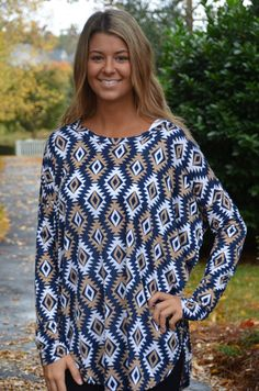 """Ikat"" You Looking tunic, blue – Chapter 2 Boutique"