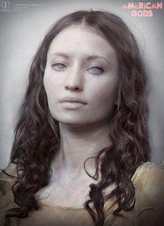 ArtStation - American Gods - Laura Moon Zombie, Luca Nemolato