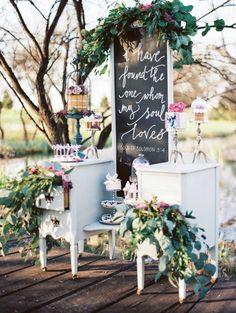 Lovely decor: http://www.stylemepretty.com/oklahoma-weddings/edmond/2015/06/02/lovely-lavender-wedding-inspiration/   Photography: Sheradee Hurst - http://www.sheradeehurstphotography.com/