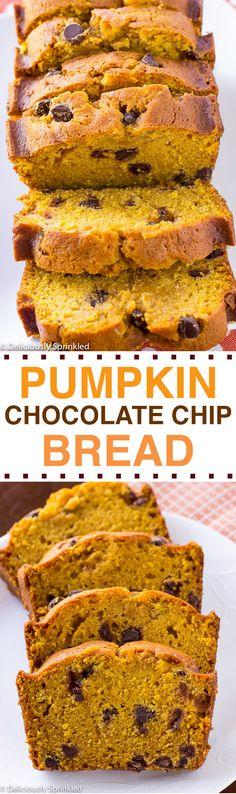 The BEST Pumpkin Chocolate Chip Bread!