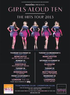 Missed out on Girls Aloud's UK tour pre-sale? Fear not, more on sale TOMORROW 9AM at http://www.livenation.co.uk/artist/girls-aloud-tickets?c=fb_ad_girls-aloud_231012 #GirlsAloud