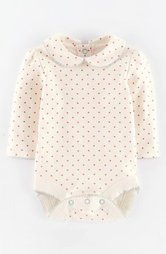 Mini Boden 'Pretty' Collar Bodysuit (Baby Girls) available at #Nordstrom