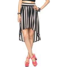 High-Low Striped Skirt found