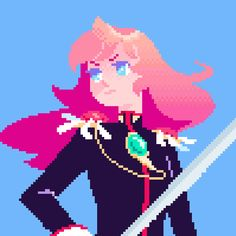 Cool Pixel Art, Cool Art, Aesthetic Anime, Aesthetic Pastel, Character Art, Character Design, Pixel Characters, Pixel Animation, Pixel Design