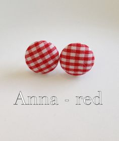 Fabric covered button earrings via Etsy