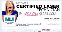 Join National Laser Institute on Facebook! Join the convo and learn how you can start a rewarding new career in 2 weeks or less!